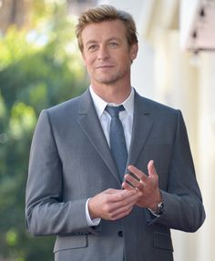Simon Baker attends a ceremony honoring him with the 2,490th Star on The Hollywood Walk of Fame on 14 February 2013, in Hollywood, California, USA #hollywood #walkoffame #star