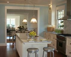 Awesome Inspirations for Cottage Remodel : Stunning Traditional Kitchen Design With Metal Bar Stools Alder Avenue