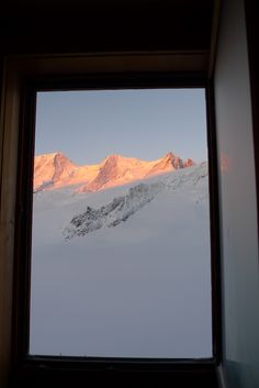 Nice view from the bedroom at Finsteraarhorn Hütte in the Swiss Alps World Class, Swiss Alps, Nice View, Airplane View, Teaching, Bedroom, Bedrooms, Education, Dorm Room