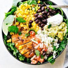 Chicken Burrito Bowls (Meal Prep) | Chelsea's Messy Apron