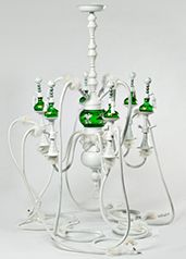 The Hookah Chandelier... for info whitneywhite316@gmail.com