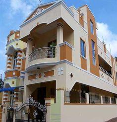 Cuddalore House Outer Design, House Outside Design, House Front Design, My Home Design, Front Elevation Designs, House Elevation, Exterior House Colors, Exterior Design, 20x40 House Plans