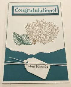 28 best greeting cards retirement images on pinterest in 2018 cby congratulations happy retirement greeting card using stampin up stamps m4hsunfo