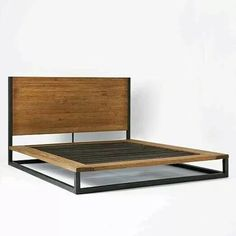 West Elm offers modern furniture and home decor featuring inspiring designs and colors. Create a stylish space with home accessories from West Elm. Cama Industrial, Industrial Platform Beds, Industrial Bed Frame, Industrial Bedroom, Bed Frame And Headboard, Wood Headboard, Wood Bedroom, Bedroom Decor, Queen Headboard