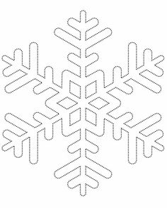 Snowflake template 1 - Free Printable Coloring Pages by aubree_hays String Art Templates, String Art Patterns, Snowflake Template, Snowflake Pattern, Snowflake Stencil, Snowflake Pillow, Snowflake Printables, Snowflake Outline, Feather Template