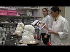 Bulldog Cakes - YouTube Cake Decorating Tutorials, Cookie Decorating, Bulldog Cake, Pink Cake Box, Cake Structure, Shrimp Cakes, Ice Cake, Cake Shapes, Sculpted Cakes