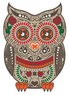 sugar skull owl from Personal Pieces by Natalie Lo
