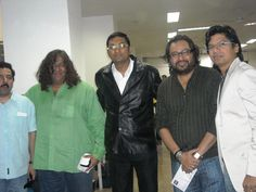 DR UJJWAL PATNI WITH MUSIC STARS OF INDIA- SINGER SHAAN, MUSIC COMPOSER MONTY SHARMA AND MUSIC DIRECTOR ISMAIL DARBAR.