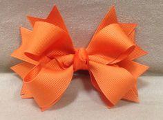 Solid Color Hair Bow, Orange Hair Bow, Blue Hair Bow, Small Hair Bow, Infant Hair Bow, Toddler Hair Bow, Girls Hair Bow, Boutique Hair Bow on Etsy, $5.50