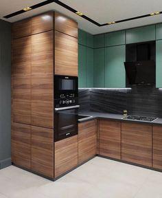 Kitchen models: 60 ideas for all styles - Home Fashion Trend Kitchen Room Design, Kitchen Cabinet Design, Modern Kitchen Design, Kitchen Colors, Kitchen Interior, Home Interior Design, Kitchen Decor, Small American Kitchens, Modern Kitchen Cabinets
