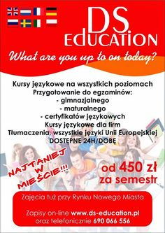 NOWA ULOTKA DS-EDUCATION What are you up to on today? DS-EDUCATION.PL #Polska, #Warszawa, #DSEducation, #kursyjezykowe