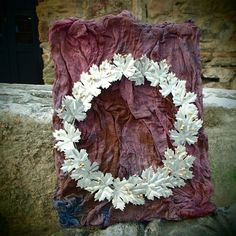 decorative wall wearth with silver arzado by modamodadesign