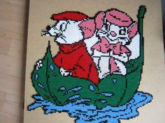 Bernard et Bianca hama beads by Hama Beads Disney, Disney Hama Beads Pattern, Perler Bead Disney, Hama Beads Patterns, Perler Bead Art, Beading Patterns, Minecraft Pattern, Pixel Pattern, Motifs Perler