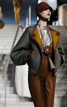 "calivintage: "" The Sartorialist: Hermes Fall 2011 "" Fashion Details, Love Fashion, High Fashion, Winter Fashion, Fashion Show, Womens Fashion, Fashion Design, Fashion Trends, London Fashion"