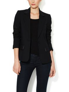 ALICE + OLIVIA - Elyse One Button Wool Blazer