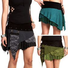 PIXIE POCKET MINISKIRT, psy trance clothing, xl pixie skirt, festival boho mini