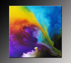 Original Abstract Painting Modern Acrylic Canvas by VivianaFleing