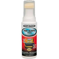 New paint delivery system offers ease and convenience in one step. Little to no masking required. Parts remain in place, on the vehicle during painting. Same great formula as Trim & Bumper Paint aerosol.