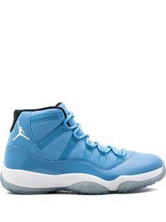 1ef83c17272 JORDAN JORDAN AIR JORDAN 11 RETRO HI-TOP SNEAKERS - BLUE.  jordan