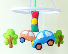 Space baby mobile Nursery mobile Baby Felt crib mobile by ZooToys