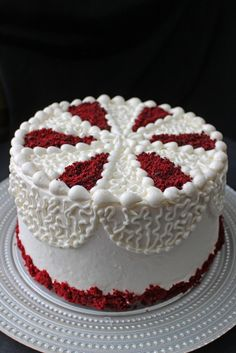 Red Velvet Birthday Cake Decorations Image Inspiration of Cake and