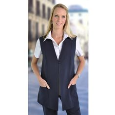 Freya Gilet Brand: DUCHESS Ideally worn over a blouse or cammi Corporate Outfits, Vest, Blouse, Lady, Skirts, Clothing, Model, Pants, Jackets
