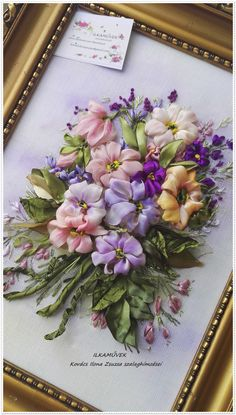 Wonderful Ribbon Embroidery Flowers by Hand Ideas. Enchanting Ribbon Embroidery Flowers by Hand Ideas. Ribbon Embroidery Tutorial, Rose Embroidery, Hand Embroidery Stitches, Silk Ribbon Embroidery, Hand Embroidery Designs, Embroidery Patterns, Ribbon Art, Ribbon Crafts, Carnation