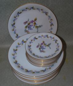 Check out this item in my Etsy shop https://www.etsy.com/listing/218263576/dinner-plates-and-bread-plates-noritake