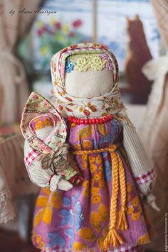 Народные куклы ручной работы. Кукла-оберег Рябинка. Анна Асатрян (oberegka). Интернет-магазин Ярмарка Мастеров. Оранжевый, осень