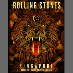 Arian Buhler poster design for the Rolling Stones 14 on Fire tour