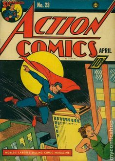 Found some vintage Superman comic books? Find out what your Superman or Action Comics are worth at Sell My Comic Books. Superman Comic, Superman Action Comics, Superman Stuff, Superman Family, Batman, Spiderman, Rare Comic Books, Comic Book Covers, Comic Books Art