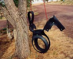 ... bonne idée ! #pneu #pneus #tyres #tire #recyclage #recycling #enfant