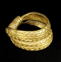 Viking gold ring found by a farmer digging a drainage ditch near Sedbergh, UK.