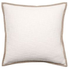 Pottery Barn Basketweave Pillow Cover (30 AUD) ❤ liked on Polyvore