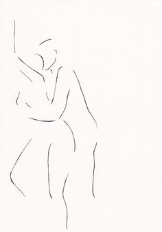 Minimalist erotic ink drawing by siret roots.