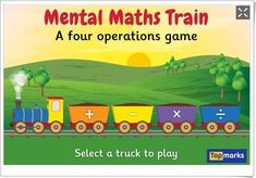 """Mental Maths Train"" (Juego de Cálculo Mental de Primaria)"