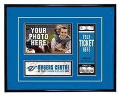 Toronto Blue Jays My First Game Ticket Frame