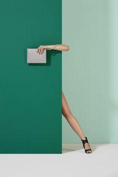 Green With Envy Studio Test Shoot   Kreber Fashion Photography   Art Director: William Golden   Fashion   Green   Handbag   Colorblock   Style   Modern   Minimal   Envy
