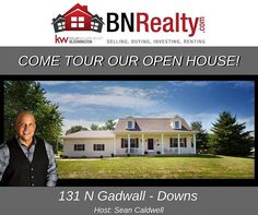 -->OPEN HOUSE<-- When: Saturday, December 9 from 1 PM to 3 PM  Where: 131 N Gadwall, Downs, IL  #bnrealty #kellerwilliamsbloomington #blono #downsil #kwbloomington #kw #downshouses #trivalleyschools