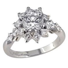 Nauti Nuptials: Diamond Flower Engagement Rings from Pinterest