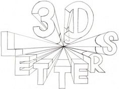 How to Draw 3D Letters one point perspective