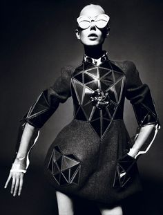 Interview Magazine, September 2012: Back To The Future > Photography: Marcus Piggott, Mert Alas  Stylist: Karl Templer