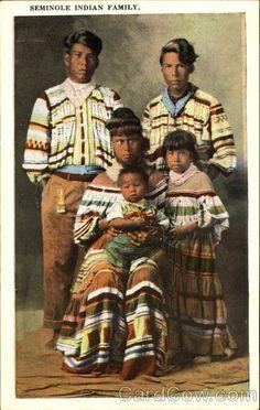 Seminole Indian Family Native Americana
