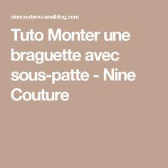 Tuto Monter une braguette avec sous-patte - Nine Couture