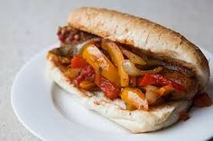 Sausage n Peppers on Italian bread