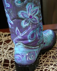 Add all kinds of hand painted details - boot painted by Jen Goode