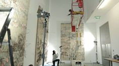 Behind the scenes: Anselm Kiefer (low res) Statues, Gagosian Gallery, Anselm Kiefer, Art Through The Ages, Video Artist, Painting Videos, Famous Artists, Art Studios, Oeuvre D'art