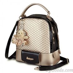 Cheap New Glossy Quilted Geometric Girls Backpacks For Big Sale!New Glossy Quilted Geometric Girls Student Backpacks is your best choice for new semester. Lace Backpack, Retro Backpack, Floral Backpack, Backpack For Teens, Backpack Bags, Leather Backpack, Pu Leather, Mini Backpack, Travel Backpack