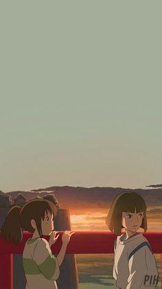Wall Paper Phone Anime Studio Ghibli Ideas For 2020 Art Studio Ghibli, Studio Ghibli Movies, Hayao Miyazaki, Animes Wallpapers, Cute Wallpapers, Spirited Away Wallpaper, Mononoke Anime, Studio Ghibli Background, Chihiro Y Haku