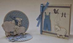 Schattige kaarten met schaapjes. In het blogbericht ook roze varianten.